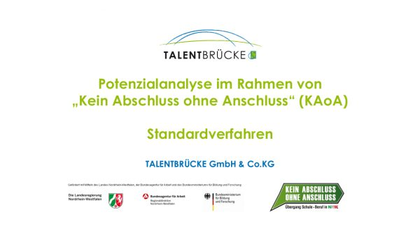 Bild TALENTBRÜCKE - Potenzialanalyse